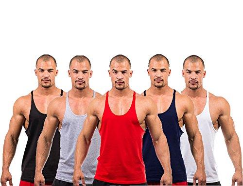 DK ACTIVE WEAR Men's Gym Vest Bodybuilding Muscle Y Back Stringer/Racerback Vest