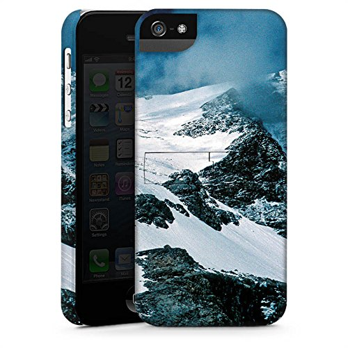 Apple iPhone 4 Housse Étui Silicone Coque Protection Montagne Montagnes Neige CasStandup blanc