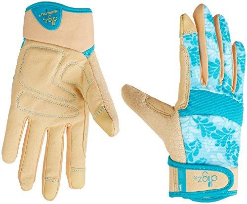 Digz 7606-23Medium Damen-Gartenhandschuhe mit Touchscreen-Fingerspitzen-Blau