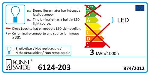 Konstsmide 6124-203 LED Acryl Eisbär stehend mit roter Schleife - 2