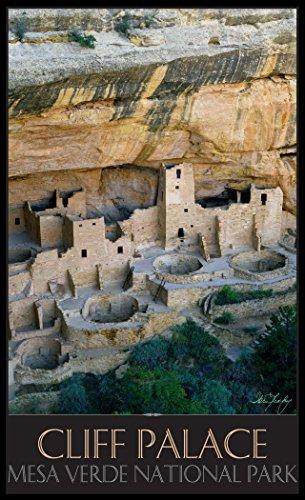 Northwest Art Mall il-4761Cliff Palace Mesa Verde National Park Print von Künstler Ike LEAHY, 27,9x 43,2cm