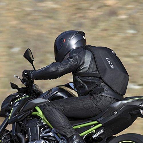 Zaino moto XLmoto Slipstream, Resistente all'acqua, 24L, Nero