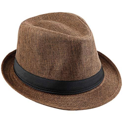 KYEYGWO Fedora-Hut Mode Filz Gangster Hüte für Mann und Frau, Trilby Snap breiter Krempe Vintage Style Dress Hut Fedora Snap