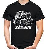 Traktor ZT Männer und Herren T-Shirt | 300 Oldtimer DDR Landwirt Bauer | M1 (M, Schwarz)