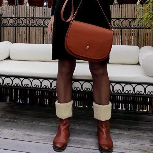 Schultertasche Satteltasche Handtasche Accessoire Damen in Sherry, Cognac, braun, gold, Leopard, von wagnerstrasse