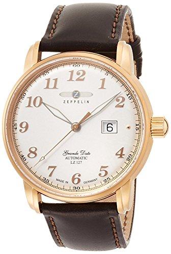 Zeppelin Reloj Graf plata Dial Automatic Winding 7652–5de hombre