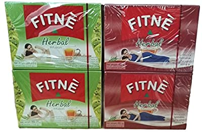Fitne - 2 Boîtes Herbes et Thé Vert + 2 Boîtes Herbal Infusion