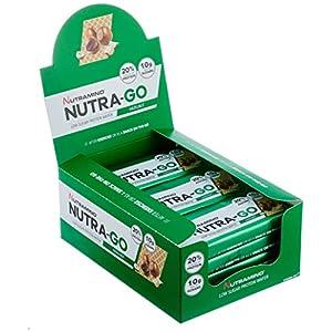 Nutramino Nutra-Go Protein Wafer/Proteinriegel (Low Sugar in Waffelform, 18% Eiweiß, wenig Zucker) Riegel, 1er Pack (12 x 39g)