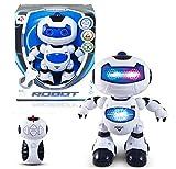 RC Ferngesteuerter Roboter mit hellen blauen LED Augen-Leuchtet sehr Hell im dunkeln!Einfach zu Steuern per Fernbedienung!Eingebauter Demo Modus per Knopfdruck!Das Spielzeug für Jung und Alt!