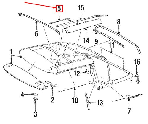 GTV PROJECT MB SL R129 Sonnendach links, A1297704114 gebraucht kaufen  Wird an jeden Ort in Deutschland