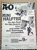 70er Jahre : A & O HOBBY UND SPORT AG PFERDESPORT-ZUBEHÖR - alte Werbung /Originalwerbung/ Printwerbung /Anzeige /Anzeigenwerbung GROSSFORMAT 21 x 28 cm