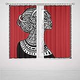 Panneaux de rideaux occultants Iprint Femme africaine coloré abstrait Motif...