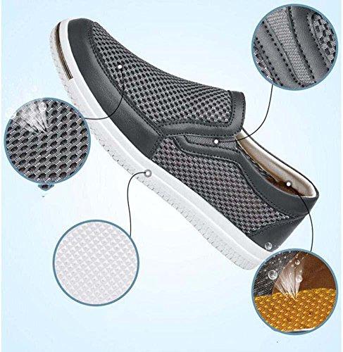 Pumpe Netzgarn Hohl Lässige Schuhe Schlüpfen Loafer Oxford Männer Atmungsaktiv Anti-Rutsch Lazy Schuhe Fahrschuhe Pedal Schuhe Sportschuhe Eu Größe 38-46 Blue