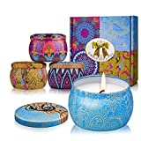 Vercrown Scented Candles Gift Sets 4 Pack,Citronella Natural Soy Wax 4 Oz for Relaxing and Aromatherapy, Perfect for Birthday Bath Yoga Christmas Mothers Valentines Day Wedding