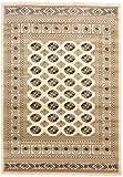 CarpetFine: Pakistan Buchara Teppich 160x230 cm Beige - Ornament