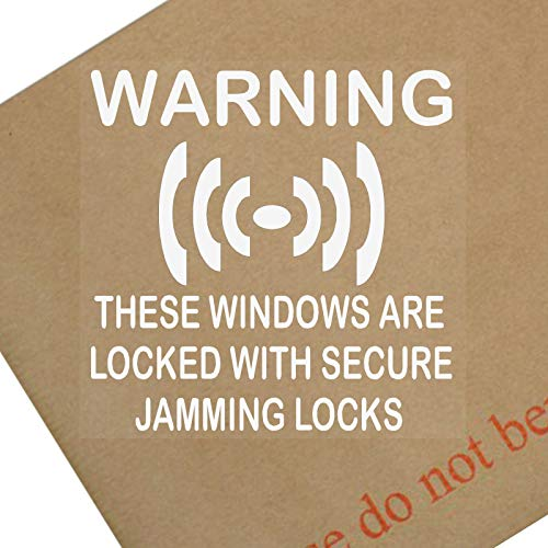 6 x Secure Jamming Locks Window Stickers-Sash Lock Security Warning Signs for House,Home,Flat,Business,Unit,Property-Self Adhesive Vinyl by Platinum Place Home-security-sticker