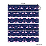 BinLZ Weihnachten Verkleiden Sich Treppen Aufkleber Weihnachtsmütze Flamingo Treppen Dekorative Wandaufkleber, Photo Color, 100 * 18cm*6 Pieces
