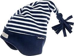 Playshoes Baby-Jungen Fleece-Zipfelmütze maritim Mütze, Blau (marine/weiß 171), 49
