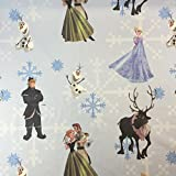 Disney Frozen Olaf - Stoff für Kinder, 100% Baumwolle, feines Gewebe, für Vorhänge / Betten, 140cm breit, Meterware