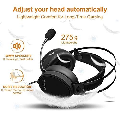 NUBWO Cuffie Headset Gaming Cuffia 3.5mm Canale Stereo Cancellazione ... 8283da9c9a9e