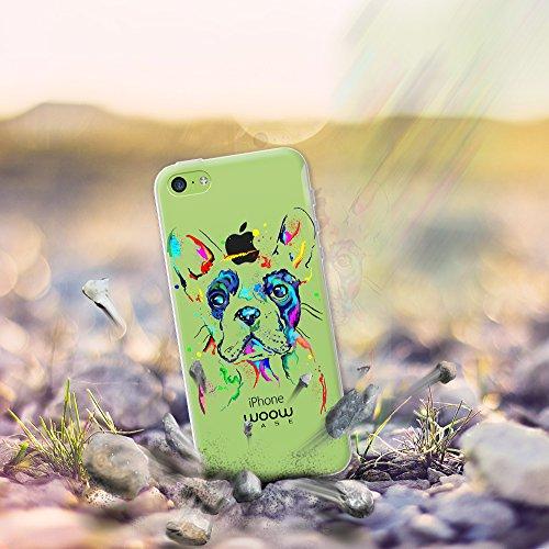 iPhone 5C Hülle, WoowCase® [ Hybrid ] Handyhülle PC + Silikon für [ iPhone 5C ] Indische Pferde Sammlung Tier Designs Handytasche Handy Cover Case Schutzhülle - Transparent Hybrid Hülle iPhone 5C H0018