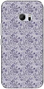 The Racoon Lean printed designer hard back mobile phone case cover for HTC 10. (dewy meado)