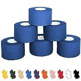 6 x Sport-Tape 3,8 cm x 10 m in 11 verschiedenen Farben, Farbe:schwarz - 2