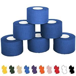 6 x Sport-Tape 3,8 cm x 10 m in verschiedenen Farben