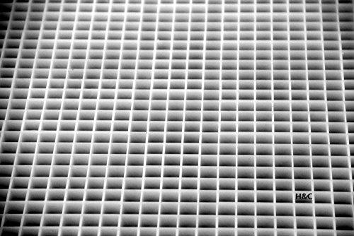 H&C Lichtrasterplatte für Korallenableger 618 x 618 mm Raster 13 x 13 mm