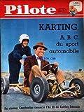 PILOTE N? 103 du 12-10-1961 KARTING - A.B.C. DU SPORT AUTOMOBILE - EDDIE CONSTANTINE...