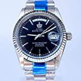 BINGABSFW BINGABSFW Brand Luxus Automatische Mechanische Uhr Vollstahl Männliche Uhren Datum Hohe Qualität Business Wasserdichte Herrenuhr