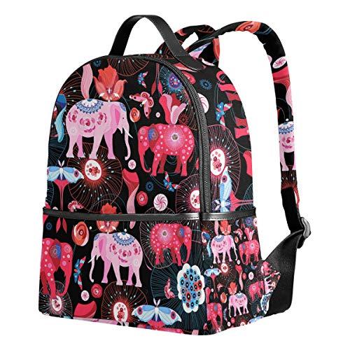 Mochila Ahomy para niñas, Elefantes, Medusas e Insectos, Mochila Escolar para Libros,...