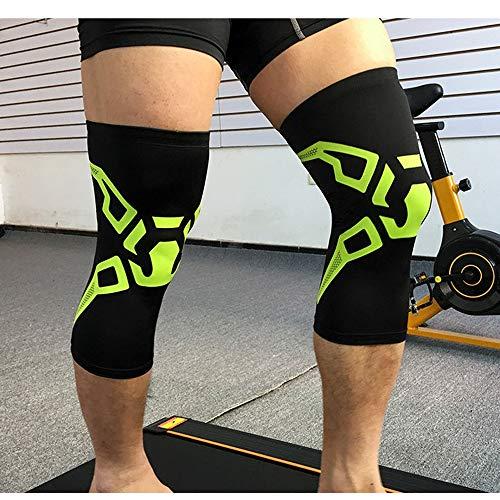 Sipaluo Knieschützer, Sommer Dünne Schutz Größe Bein Sets Outdoor Fußball Reiten Laufen Sportartikel Schutzausrüstung,Black,L