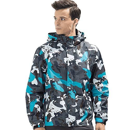 Männer Tarnen Kapuzenpullover Lange ÄRmel Hooded Sweatshirt Draussen Blau Mit Kapuze Tops Basic T-Shirt Mode Elegante Langarmshirt Blusen - Und Blaue Nike-jacke Schwarze