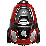 AEG LX5Compact Aspirapolvere senza sacchetto compatta con spazzola Parketto, colore: rosso