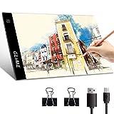 GLIME Tablette Lumineuse A4 Ultra-mince & Ultra-léger Lumineuse Dessin LED Stepless...