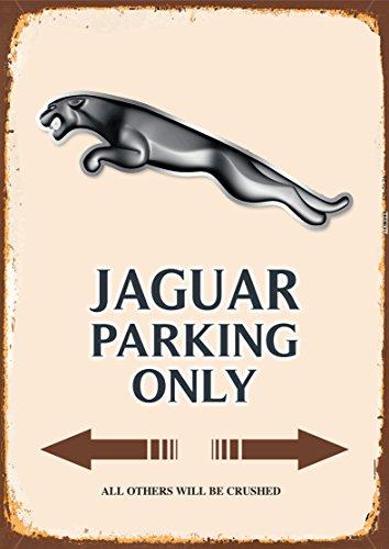Jaguar Parking only blechschild