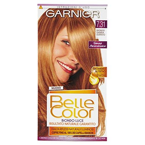 teinture pour les cheveux couleur permanent belle color luce 7,31 blond sabbia dorata