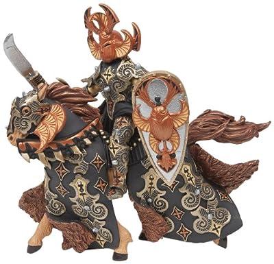 Papo - Figurines/Animaux - Guerrier scarabée noir et son cheval