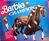 MATTEL BARBIE 4045 BARBIE: schwarzes Pferd (Champion)