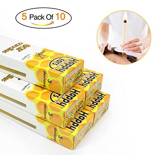 Bienenwachs Kerzen, ALIVER 100% Bienenwachs ungiftig Zylinder Bienenwachs duftlos 5Pack