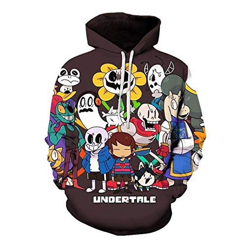 5dbf6c7a6064 Hoodie 3D Cosplay Game for Undertale Digital Print Casual Loose Hooded  Sports Top,A1,5XL