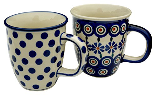 hand-decorated-polish-pottery-manu-faktura-set-2xk-081-24x-54kk-mug-pair-of-2mars-cobalt-blue-9cm-2u