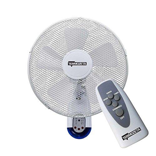 Termozeta airzeta Wall Household Blade Fan 42W Blue, White–Household Fans (Blue, White, 42W, 0.4W, AC, 440mm, 300mm)