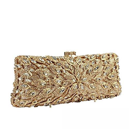 Damen Abendtaschen Diamanten Gehobene Bankett Kupplung Handtasche A