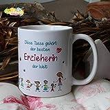 Kaffeebecher ~ Tasse - Diese Tasse gehört der besten Erzieherin~ Weihnachten Geschenk Abschied Kindergarten