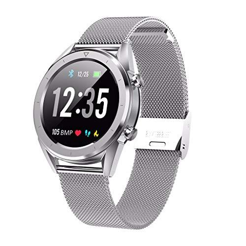 LRWEY Fitness Smart Watch, EKG-Blutsauerstoff-Blutdruck-Pulsmesser Sport GPS Schrittzähler 64 MB Flash Wasserdicht Bluetooth Sport Smart Watch iOS Android Handy