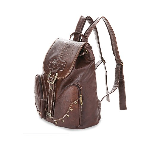 Lycailcy LYC-Lycailcy-A05-5, Borsa a zainetto donna marrone Light Brown(10.2 x 5.9 x 14.2 inches) taglia unica Light Brown(10.2 x 5.9 x 14.2 inches)