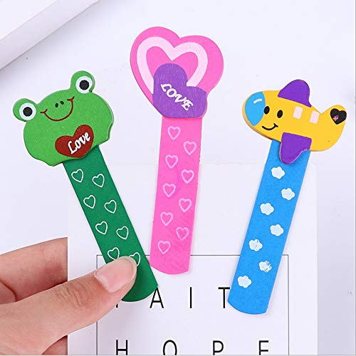 CHSYOO 20 Pieces Animals Bookmark Cartoon Wooden Gifts for Kids Birthday Party Favor Christmas