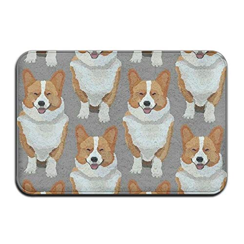 Pembroke Welsh Corgi Made To Measure Super Soft Rectangular Doormat Dotted Non-slip Bottom For Rug Scatter Cushions 23.6